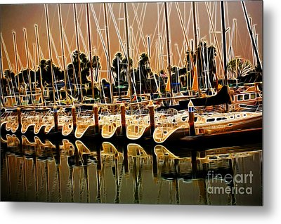 Masts Metal Print by Cheryl Young