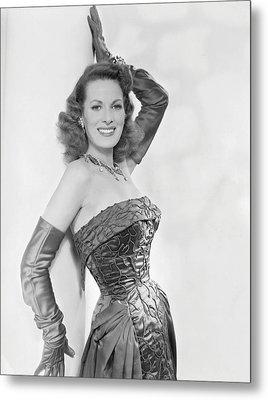 Maureen Ohara, Circa 1954 Metal Print by Everett