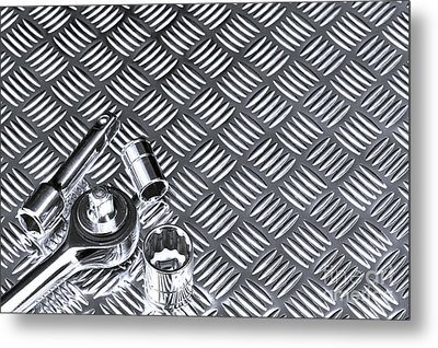 Mechanical Socket Background Metal Print by Richard Thomas