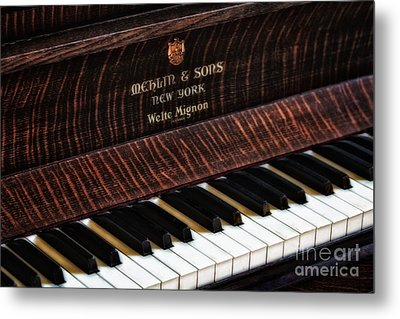 Mehlin And Sons Piano Metal Print by Susan Candelario