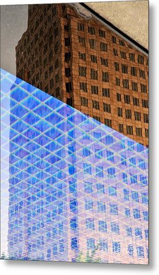 Melancholy In Blue And Brown Metal Print by Dean Harte