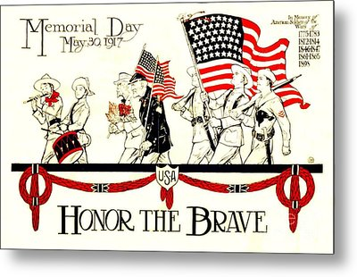Memorial Day Metal Print by Pg Reproductions