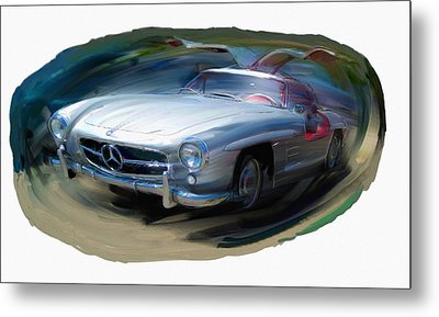 Mercedes Gullwing Metal Print by RG McMahon