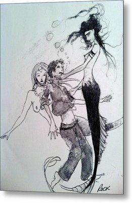 Mermaids Metal Print by Jackie Rock