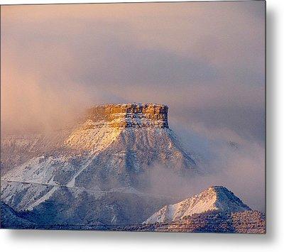 Mesa Verde Adorned With Clouds Metal Print by FeVa  Fotos