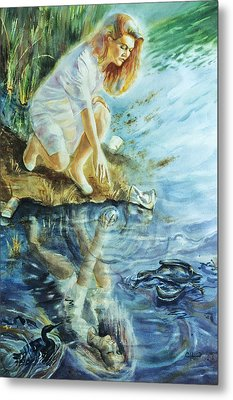 Message In The Water Metal Print by Catherine Foster