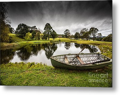 Messing About In A Boat Metal Print by Avalon Fine Art Photography