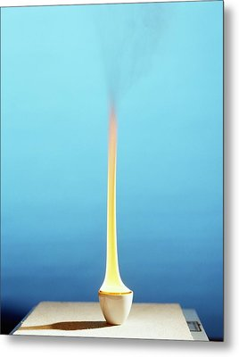 Methylbenzene Burning Metal Print by Andrew Lambert Photography
