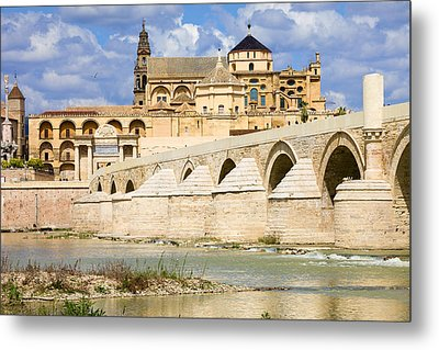 Mezquita Cathedral And Roman Bridge In Cordoba Metal Print by Artur Bogacki