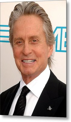 Michael Douglas At Arrivals For 37th Metal Print by Everett
