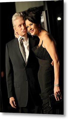 Michael Douglas, Catherine Zeta Jones Metal Print by Everett