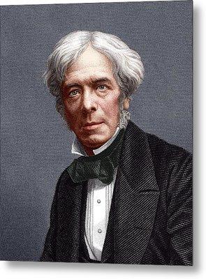 Michael Faraday, English Chemist Metal Print by Sheila Terry