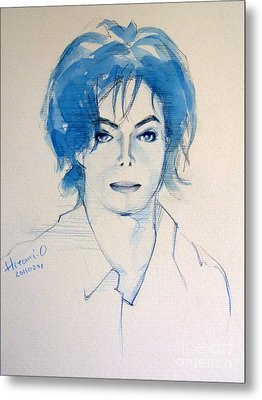 Michael Jackson - Gimme Your Wings Metal Print by Hitomi Osanai