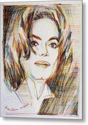 Michael Jackson - Indigo Child  Metal Print by Hitomi Osanai
