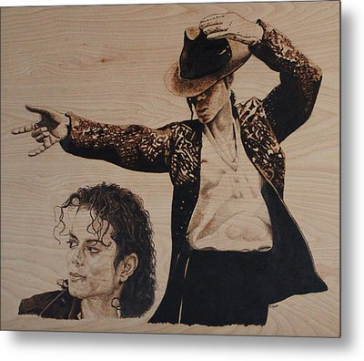 Michael Jackson Metal Print by Michael Garbe