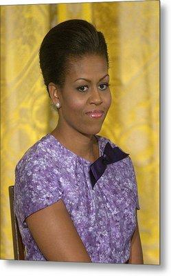 Michelle Obama Wearing An Anne Klein Metal Print by Everett