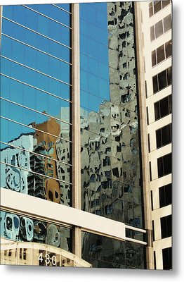 Michigan Ave. Reflection Metal Print by Todd Sherlock