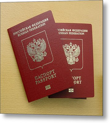 Microchipped Passports, Russia Metal Print by Ria Novosti