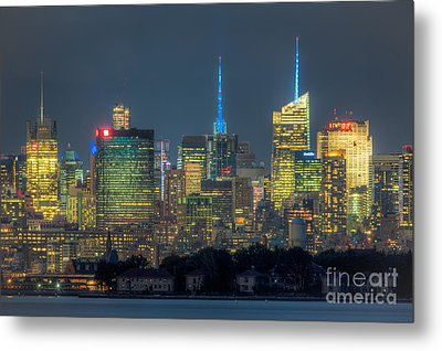 Mid-town Manhattan Twilight I Metal Print by Clarence Holmes
