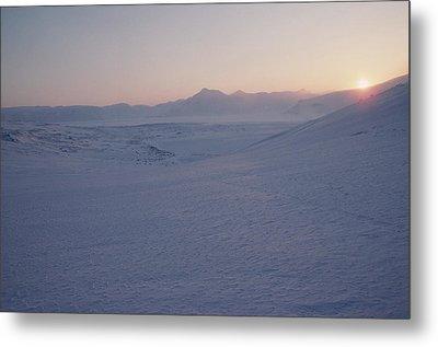 Midnight Sun Hovers Above Polar Metal Print by Gordon Wiltsie