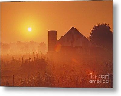 Midwestern Rural Sunrise - Fs000405 Metal Print by Daniel Dempster