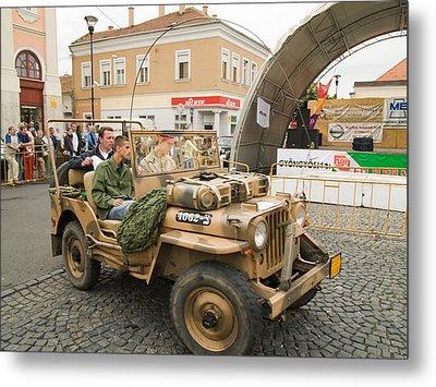 Military Old Car Metal Print by Odon Czintos