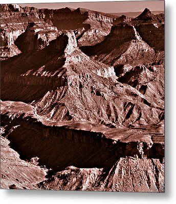 Milk Chocolate Mountains Metal Print by Bob and Nadine Johnston
