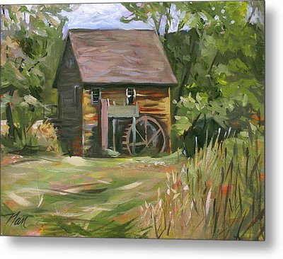 Mill In The Meadow Metal Print by Nancy Griswold
