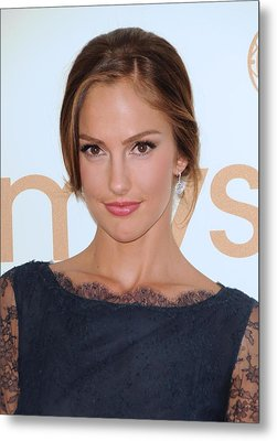 Minka Kelly At Arrivals For The 63rd Metal Print by Everett
