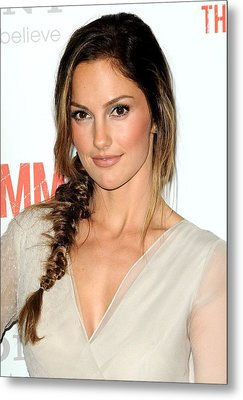 Minka Kelly At Arrivals For The Metal Print by Everett