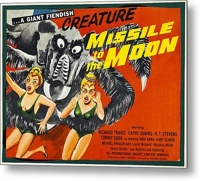 Missile To The Moon, Half-sheet Poster Metal Print by Everett