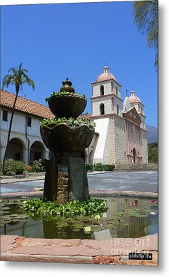 Mission Fountain Metal Print by Methune Hively