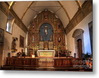 Mission San Carlos Borromeo De Carmelo  11 Metal Print by Bob Christopher