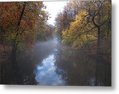 Mist Along The Wissahickon Metal Print by Bill Cannon