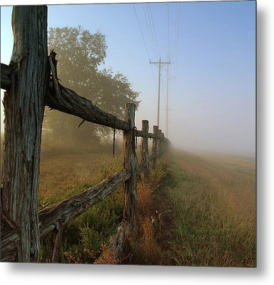 Misty Morning Metal Print by Cindy Rubin