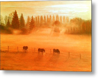 Misty Morning Metal Print by Ronald Haber