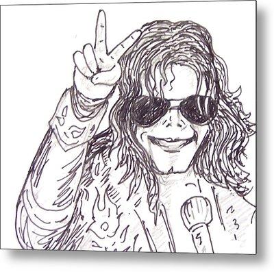 MJ Metal Print by Rajan V