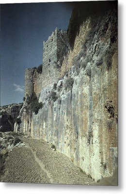 Moat Of Saladins Castle, A Byzantine Metal Print by Everett