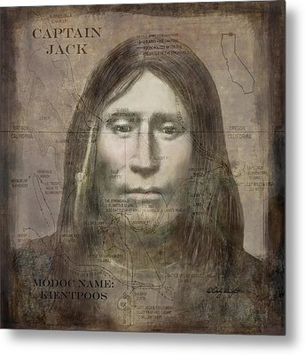 Modoc Indian Captain Jack Metal Print by Cindy Wright