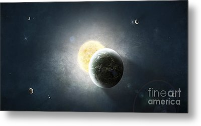 Moments Before A Total Eclipse Metal Print by Tomasz Dabrowski
