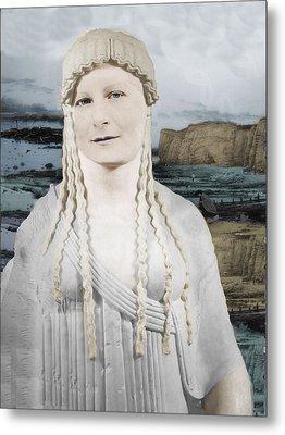 Mona Lisa  Metal Print by Karine Percheron-Daniels