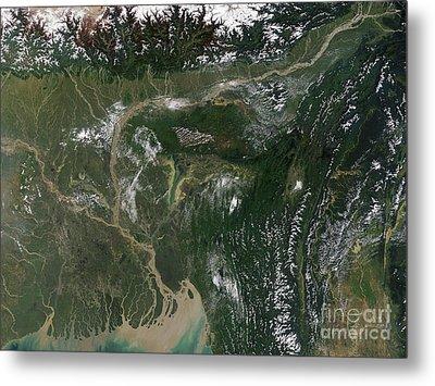 Monsoon Floods Metal Print by NASA / Science Source
