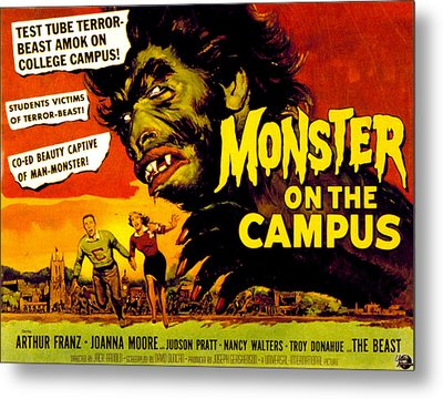 Monster On The Campus, Arthur Franz Metal Print by Everett