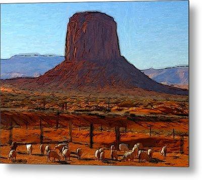 Monument Valley 2 Pastel Metal Print by Stefan Kuhn