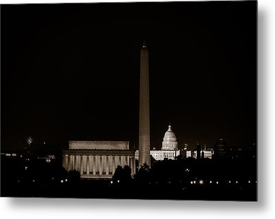 Monuments In Black And White Metal Print by David Hahn