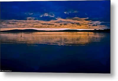 Moody Blue Metal Print by Mitch Shindelbower
