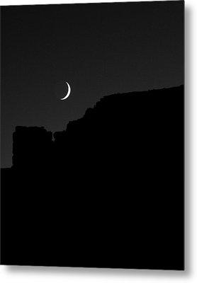 Moon Cedar Mesa Utah Metal Print by Troy Montemayor