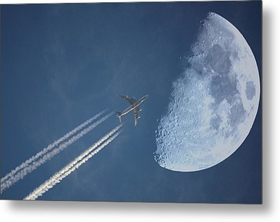 Moon Flight Metal Print by G.t.