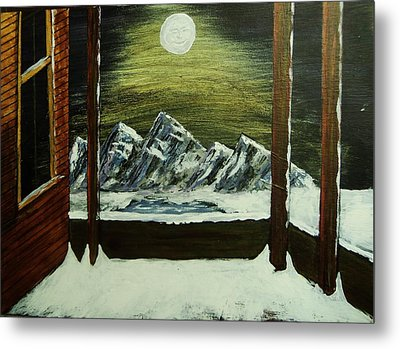 Moon Over The Mountains Metal Print by Gordon Wendling