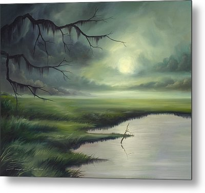Moon Over Wadmalaw Island  Metal Print by James Christopher Hill